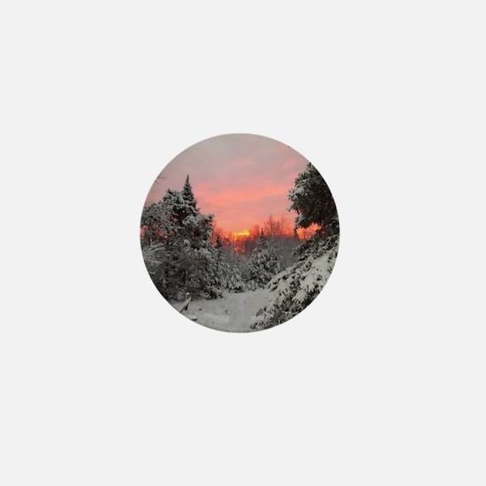 Winter Glow Mini Button