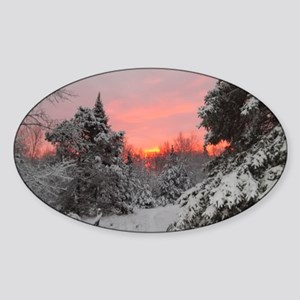 Winter Glow Sticker (Oval)