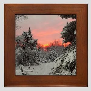 Winter Glow Framed Tile