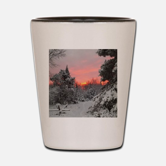 Winter Glow Shot Glass