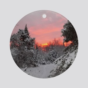 Winter Glow Round Ornament