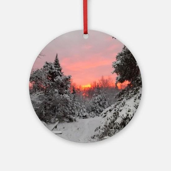 Winter Glow Round Ornament