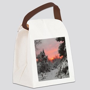 Winter Glow Canvas Lunch Bag
