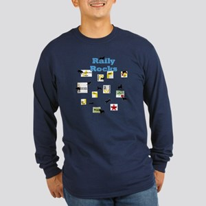 Rally 5 Long Sleeve Dark T-Shirt
