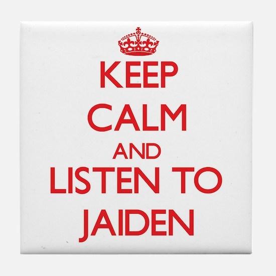 Keep Calm and listen to Jaiden Tile Coaster