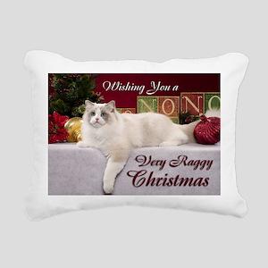 Linden Christmas Card Rectangular Canvas Pillow