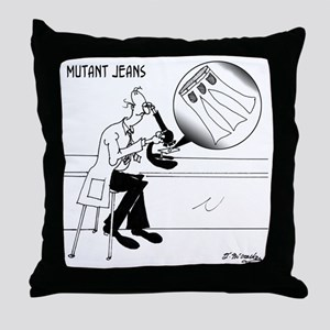 1031_biology_cartoon Throw Pillow