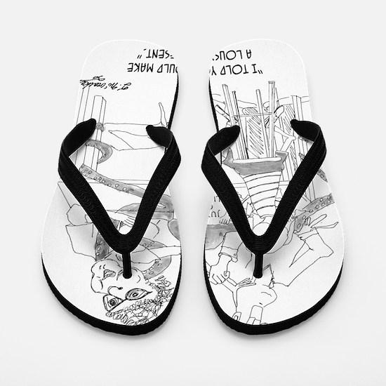 0074_genetics_cartoon Flip Flops