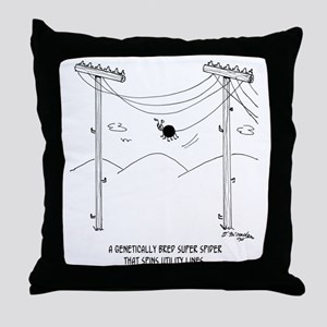 6177_spider_cartoon Throw Pillow