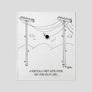 6177_spider_cartoon Throw Blanket