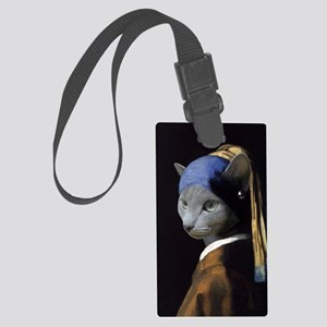 The Girl With The Pearl Earring Large Luggage Tag