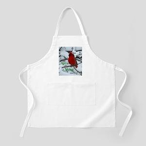 Snow Cardinal Apron