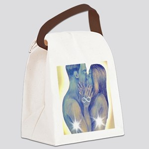 TwinFlames-bluesouls Canvas Lunch Bag