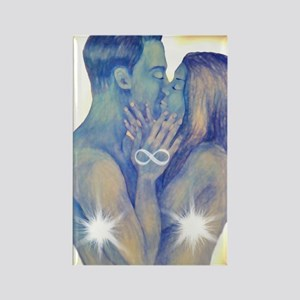 TwinFlames-bluesouls Rectangle Magnet
