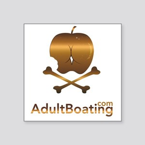 """AdultBoating_logo_vertical Square Sticker 3"""" x 3"""""""
