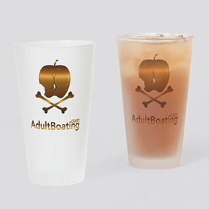AdultBoating_logo_vertical Drinking Glass