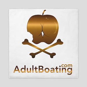 AdultBoating_logo_vertical Queen Duvet