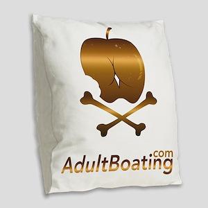 AdultBoating_logo_vertical Burlap Throw Pillow