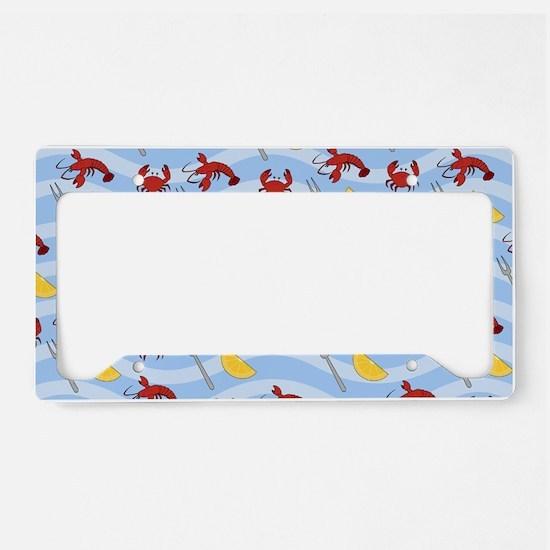Crab Lobster Seafood License Plate Holder