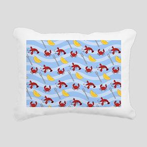Crab Lobster Seafood Rectangular Canvas Pillow