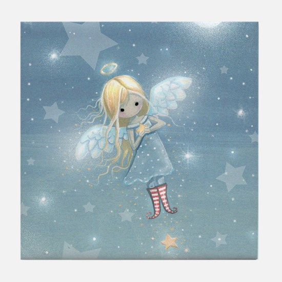 little star angel cp Tile Coaster