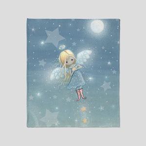 little star angel cp Throw Blanket