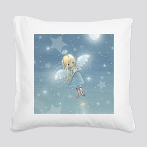 little star angel cp Square Canvas Pillow