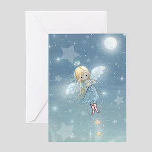little star angel cp Greeting Card