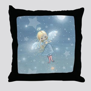 little star angel cp Throw Pillow