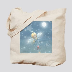 little star angel square Tote Bag