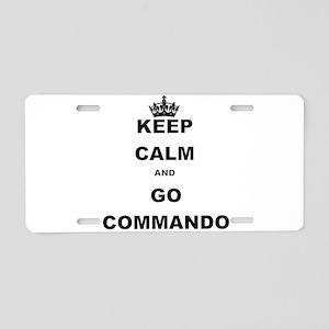 KEEP CALM AND GO COMMANDIO Aluminum License Plate