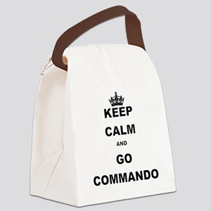 KEEP CALM AND GO COMMANDIO Canvas Lunch Bag