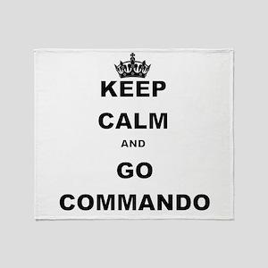 KEEP CALM AND GO COMMANDIO Throw Blanket