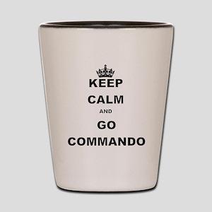 KEEP CALM AND GO COMMANDIO Shot Glass