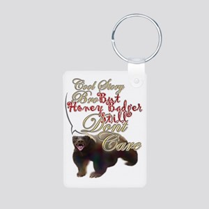 Honey Badger Cool Story Aluminum Photo Keychain