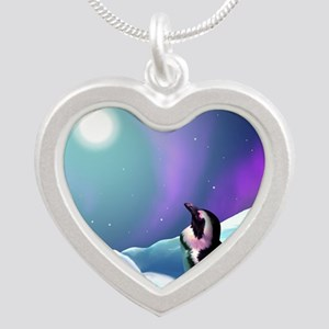 penguin Silver Heart Necklace