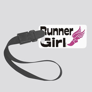 runner girl Small Luggage Tag