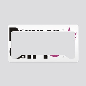 runner girl License Plate Holder