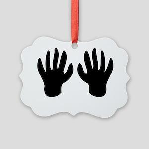 Black Hands 01 Picture Ornament