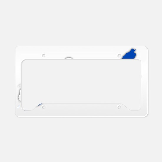NSflag shadow trans License Plate Holder