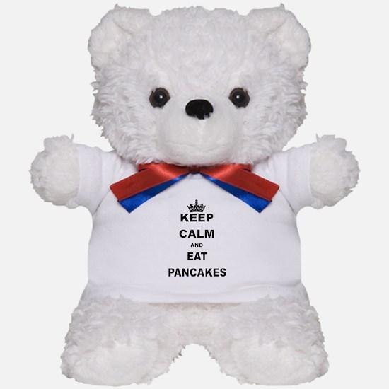 KEEP CALM AND EAT PANCAKES Teddy Bear