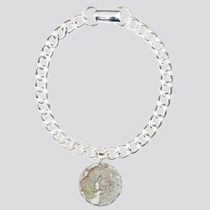 1730_Homann_Map_of_Scand Charm Bracelet, One Charm