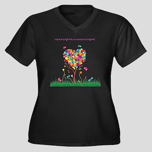 Tough Mommy Women's Plus Size Dark V-Neck T-Shirt