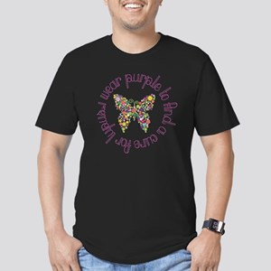 Purple Butterfly for L Men's Fitted T-Shirt (dark)