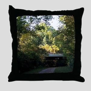 BikeTrailRt123Underpass Throw Pillow