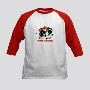 Yee Haw! Monster Truck Kids Baseball Jersey