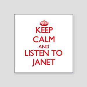Keep Calm and listen to Janet Sticker