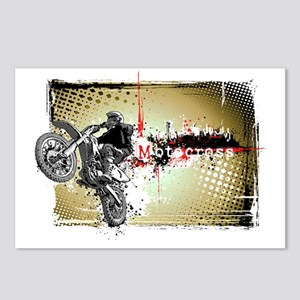 Motocross Puzzle 3 Postcards (Package of 8)