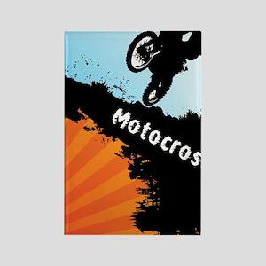 Motocross Puzzle 5 Rectangle Magnet