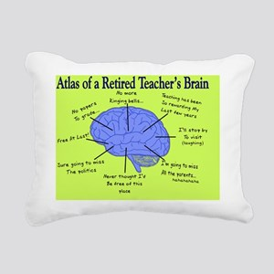 Retired Teachers Brain C Rectangular Canvas Pillow